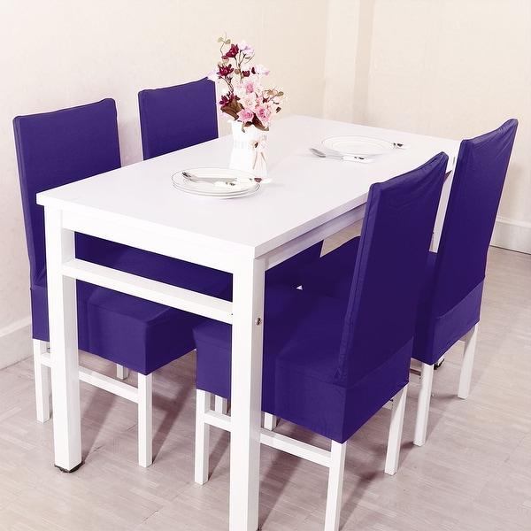 Unique Bargains Dark Purple Spandex Stretch Washable Dining Chair Cover