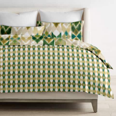 Delara GOTS Certified 100% Organic Cotton Aztec Reversible Print Duvet Cover and Sham Set of 2