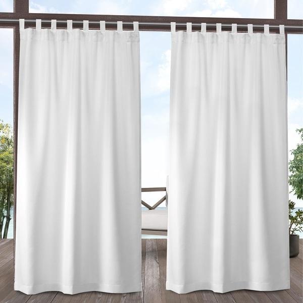 ATI Home Indoor/Outdoor Solid Cabana Tab Top Window Curtain Panel Pair
