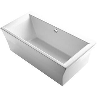 "Kohler K-6367 Stargaze 72"" Free Standing Bath Tub with Lumbar Support and Center Drain"