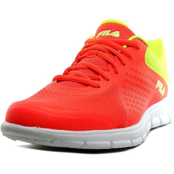 Fila Memory Faction Youth Round Toe Synthetic Orange Running Shoe