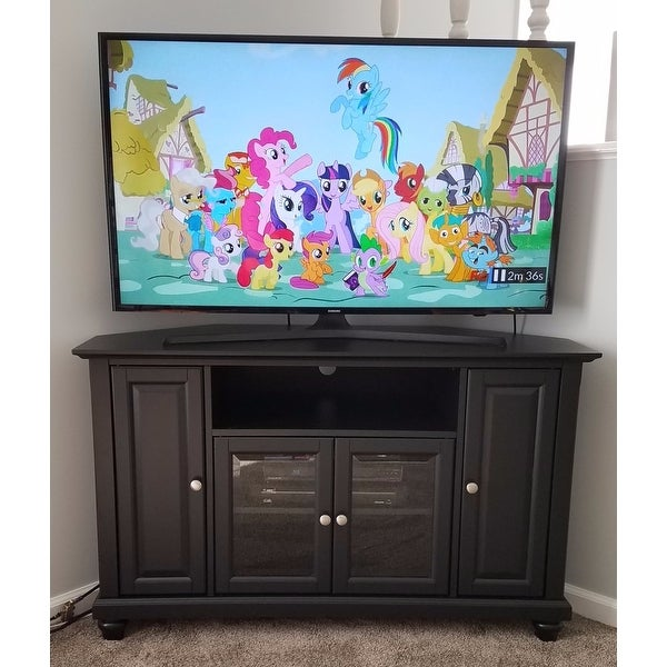 Superieur Shop Crosley Furniture Cambridge Black Finish 48 Inch Corner TV Stand    Free Shipping Today   Overstock.com   15315673