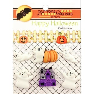 Buttons Galore Halloween Buttons 6/Pkg-Boo Buddies