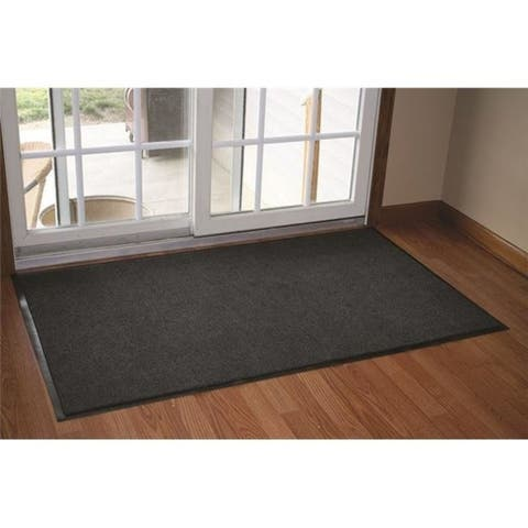 Durable 654S48CH Wipe-N-Walk Entrance Mat 4 x 8 in. - Charcoal