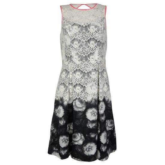 Jessica Simpson Women's Floral Print Lace Dress