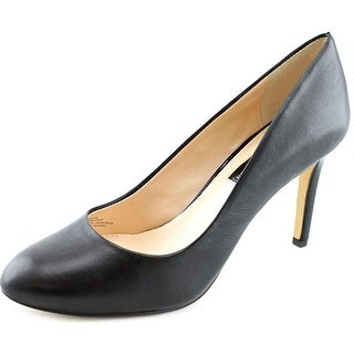 INC International Concepts Bensin Round Toe Leather Heels