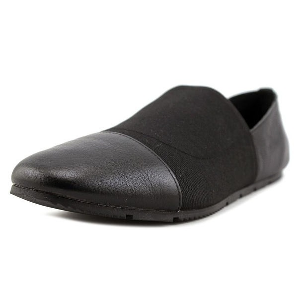 Calvin Klein Poppia Women Round Toe Leather Black Loafer