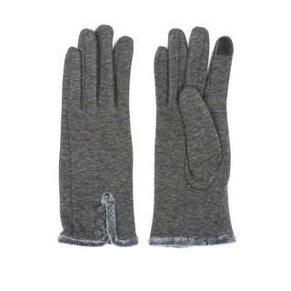 Womens Faux Fur Cuff Texting Gloves