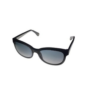 John Galliano Sunglass JG28 20B Black Marble Square Fashion Smoke Lens - Medium