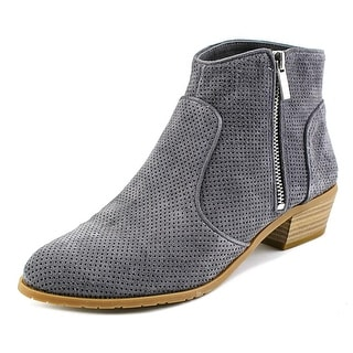 INC International Concepts Carson Women Pointed Toe Leather Gray Bootie