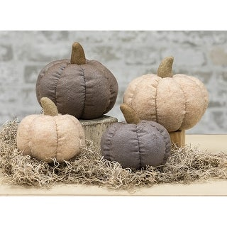 Taupe Fabric Pumpkin - 4""