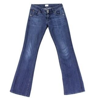 Hudson NEW Blue Womens Size 28x32 Flap Pocket Boot Cut Stretch Jeans