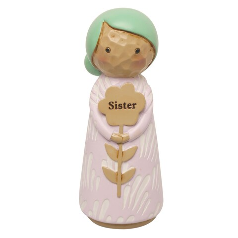 "Japanese Kokeshi Dolls - Sister - 4.5"" High - 4 in."