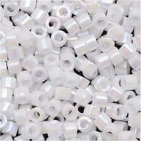 Miyuki Delica Seed Beads 10/0 White Pearl AB DBM0202 8 GR