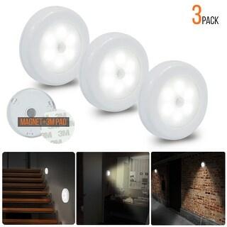 eToplighting Stick-Anywhere Motion Sensor LED Night Light, Set of 9 - White