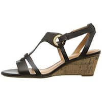 Naturalizer Womens Heston Open Toe Casual Platform Sandals