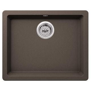 "Miseno MGR2217 Carolina 22"" Single Basin Drop In or Undermount Granite Composite Kitchen Sink - Basket Strainer Included"