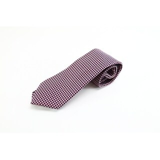 Enro NEW Red Burgundy Geometric Mens Extra Long Neck Tie Silk Accessory