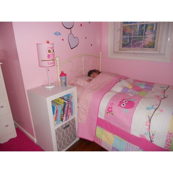 Shop Cozy Line Pink Owl Cotton 3 Piece Quilt Set   Free Shipping Today    Overstock.com   9198341
