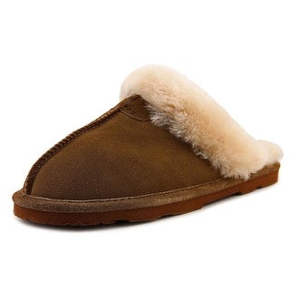 Bearpaw Loki Women Round Toe Suede Tan Slipper