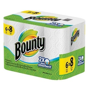 "Bounty 95033 Paper Towels, 11"" X 11"", White"