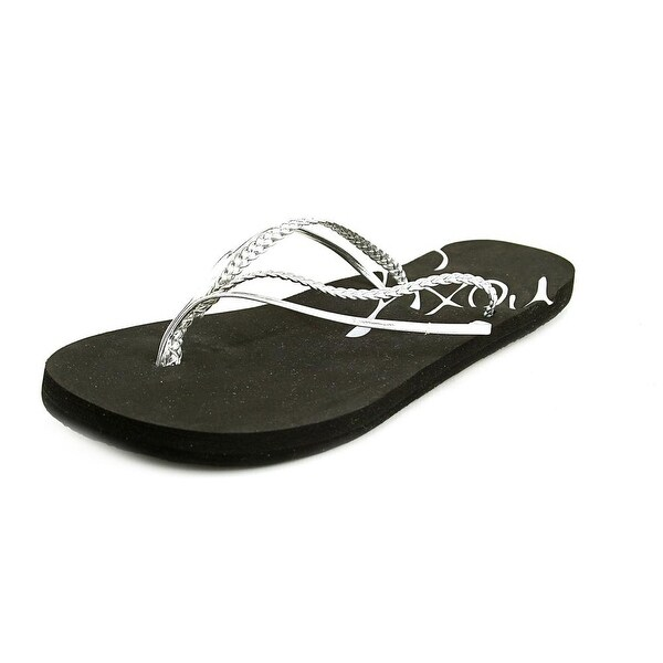 08eb702869e6b1 Shop Roxy Rio II Women Open Toe Synthetic Silver Flip Flop Sandal ...