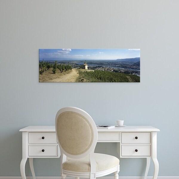 Easy Art Prints Panoramic Images's 'Chapel in a vineyard, La Chapelle Vineyard, Tain