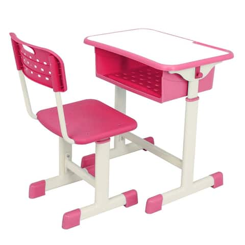 Adjustable Child's Study Desk Table and Chair Set