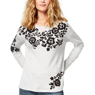 Link to I-N-C Womens Embroidered Sweatshirt Similar Items in Loungewear