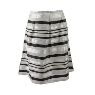 City Chic Women's Trendy Plus Size Metallic A-Line Skirt - Silver