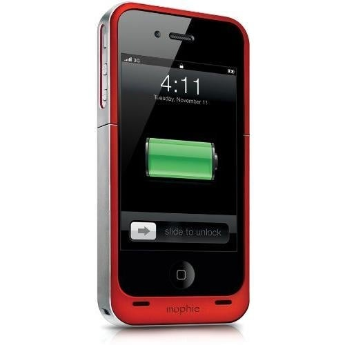 Mophie Juice Pack Air Battery Case for Apple iPhone 4/4S - Red