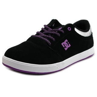 DC Shoes Crisis Youth Round Toe Leather Black Skate Shoe