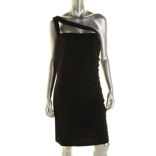 Calvin Klein Womens Matte Jersey One Shoulder Clubwear Dress