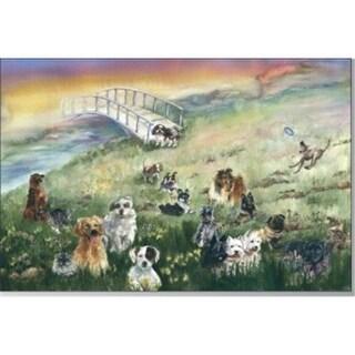 Rainbow Card Company RB10 Rainbow Bridge Pet Sympathy Cards -10 Pack