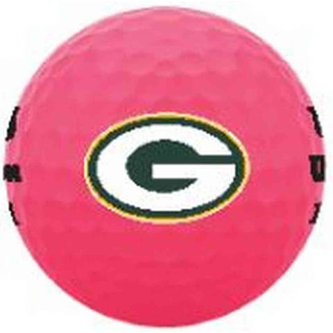 Wilson Duo Soft NFL Football Golf Balls (12 Balls) Green Bay Packers Pink - Standard