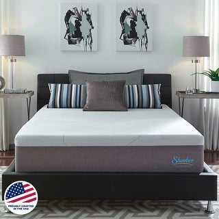 Slumber Solutions 14-inch Gel Memory Foam Choose Your Comfort Mattress - White