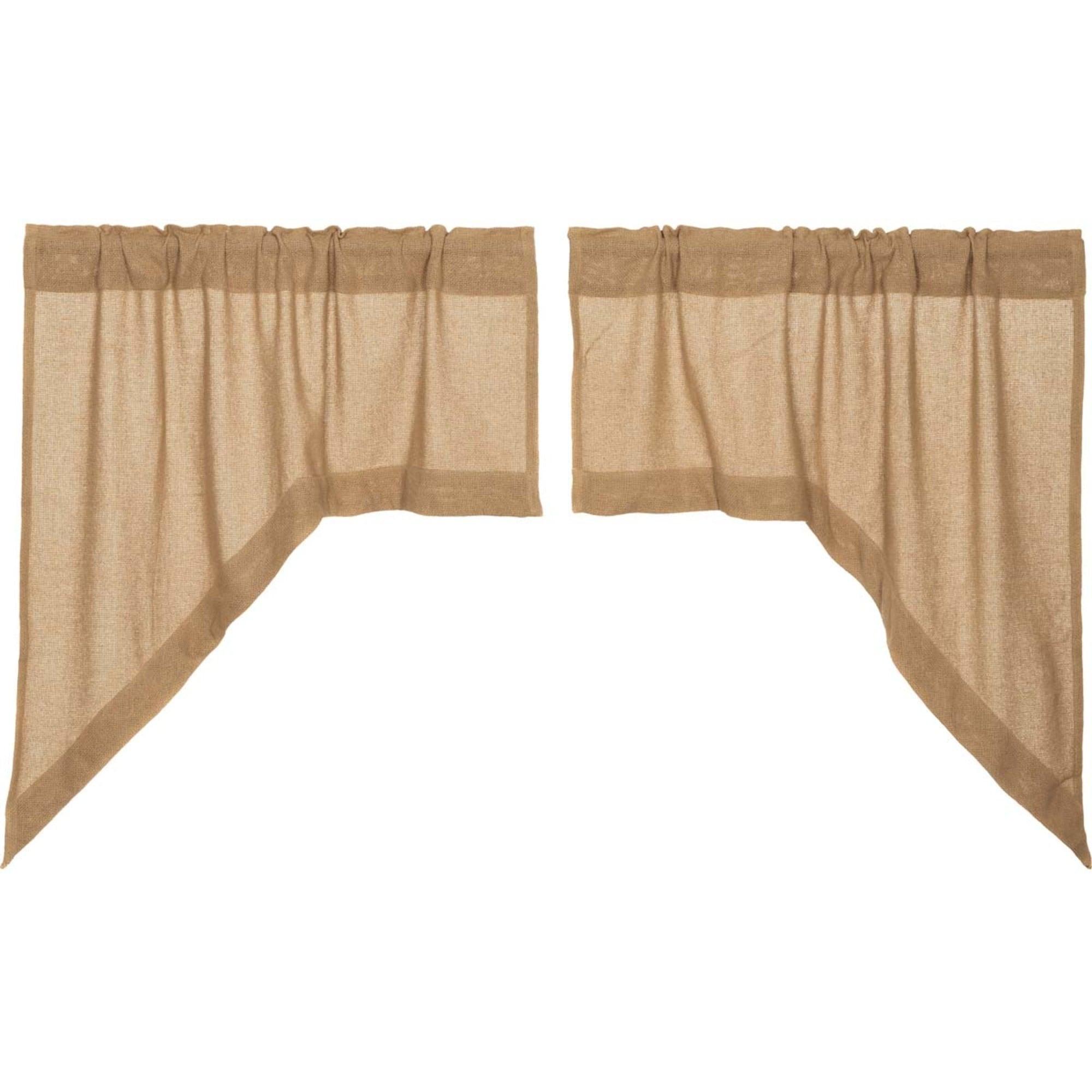 Window Treatments Hardware Vhc Farmhouse Kitchen Curtain Swag Set Country Cotton Burlap Drapes 3 Colors Home Garden Mbln Org
