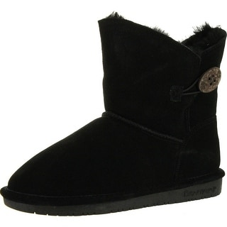 Bearpaw Womens Rosie 1653W Suede Boots - Chocolate - 7 b(m) us
