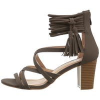 journee Co Womens Ruthie Open Toe Special Occasion Strappy Sandals