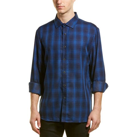 Karl Lagerfeld Plaid Dotted Woven Shirt