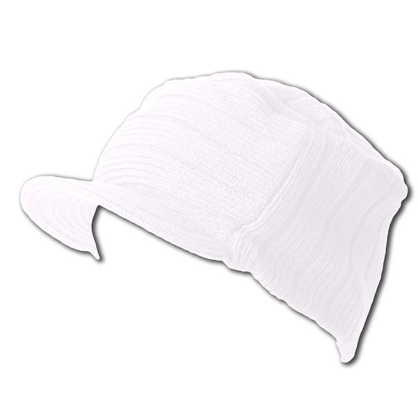 88115dfbfc1ac Shop White Winter Flat Top Jeep Cap Hat - Free Shipping On Orders Over  45  - Overstock - 16965401