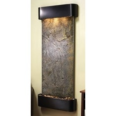 Adagio Inspiration Falls Wall Fountain Green FeatherStone Blackened Copper - IFR