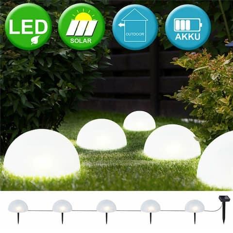 1PC Solar Power Plug Ground Light Outdoor Waterproof Half Ball Light with Built-in Battery for Front Door Garden Patio Yard