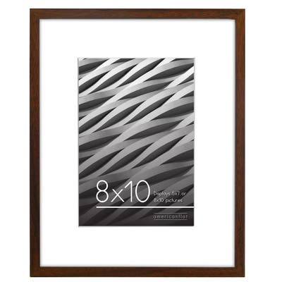 """Americanflat Thin Picture Frame in Walnut Wood -8"""" x 10"""""""