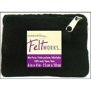 Dimensions Feltworks 100% Wool Purse Mini Black