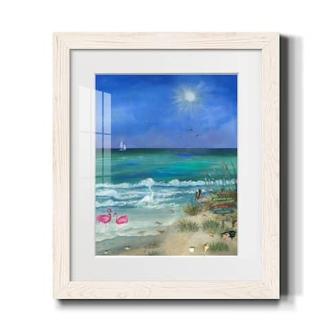 Path to Huntington Beach-Premium Framed Print - Ready to Hang