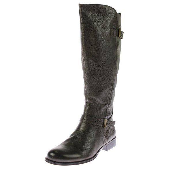 980087b674a6 Naturalizer Womens Joan Riding Boots Wide Calf Leather - Free Shipping  Today - Overstock.com - 19925574