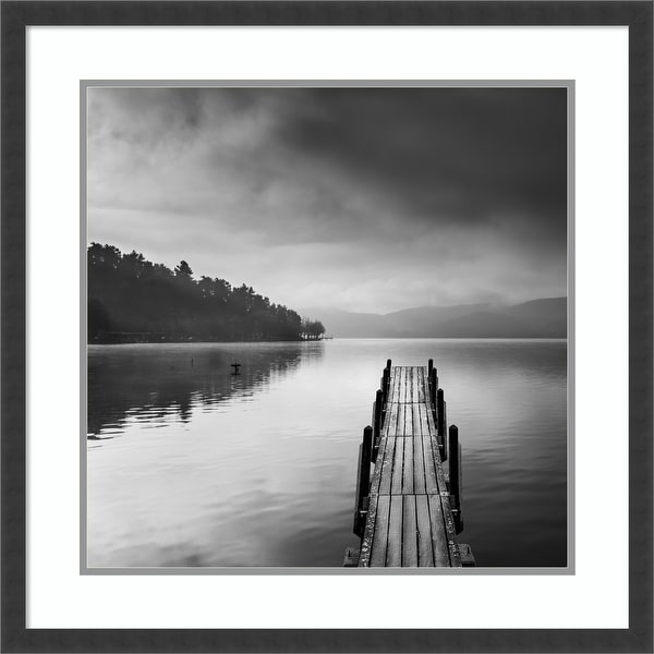 Framed Wall Art Print Lake view with Pier II by George Digalakis 25.50 x 25.50-inch. Opens flyout.