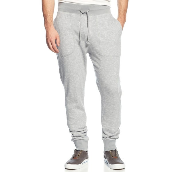 d0a407ee9ead Shop American Rag Slim Fit Drawstring Jogger Pants Pewter Grey Heather  X-Large - XL - Free Shipping On Orders Over  45 - Overstock - 14368072