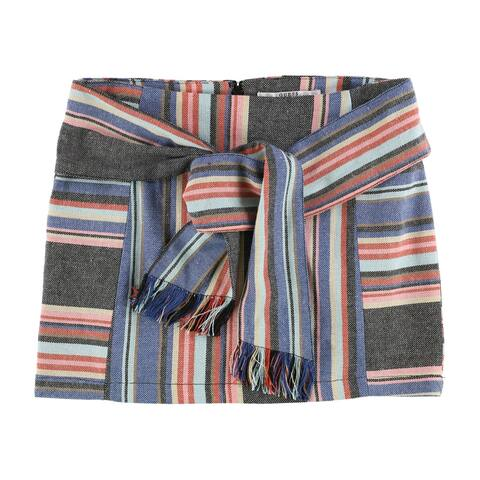 GUESS Womens Silas A-line Skirt, blue, 4
